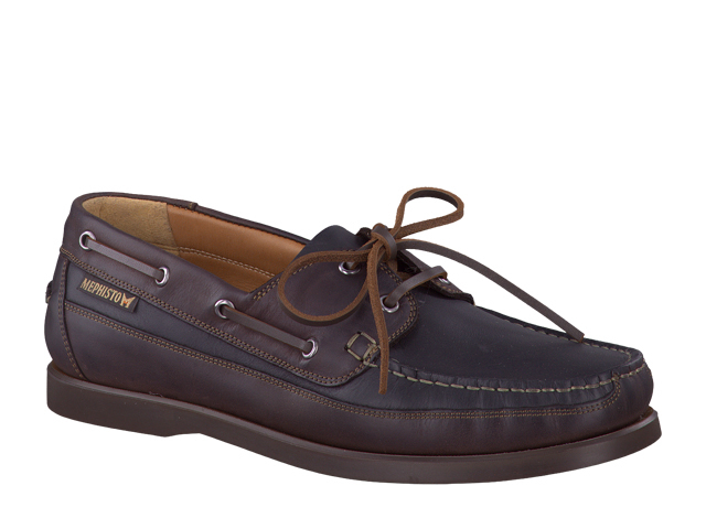 Mephisto Boating - Black/Brown grizzly Leather