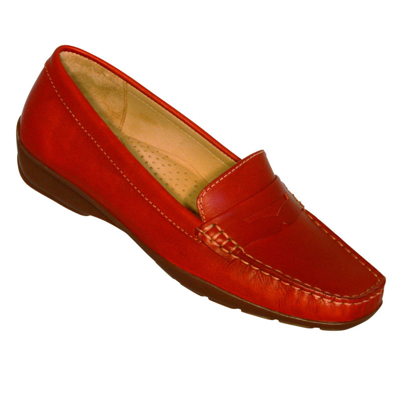 SALE GLOBO Aslockton - Red supersoft leather