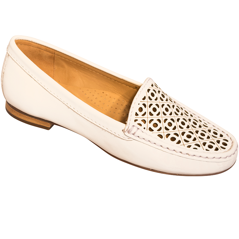 SALE GLOBO Caistor - White supersoft leather