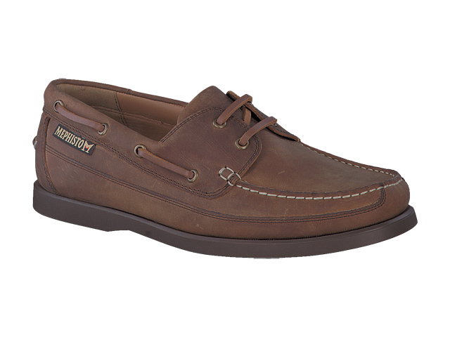Mephisto Boating - Tobacco Brown grizzly Leather