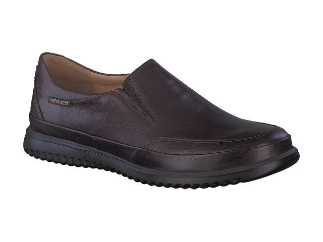 Mephisto Twain  - Brown smooth supersoft leather