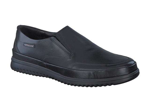 Mephisto Twain  - Black smooth supersoft leather