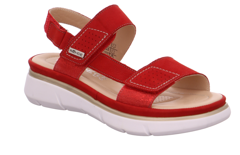 Rohde 5304-41 Red washable bucksoft leather