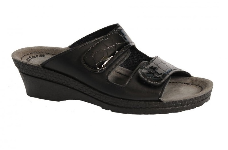 Rohde 1469-91 Black patent supersoft leather