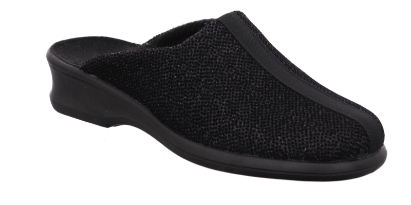 Rohde 2502-90 Suede effect washable mules