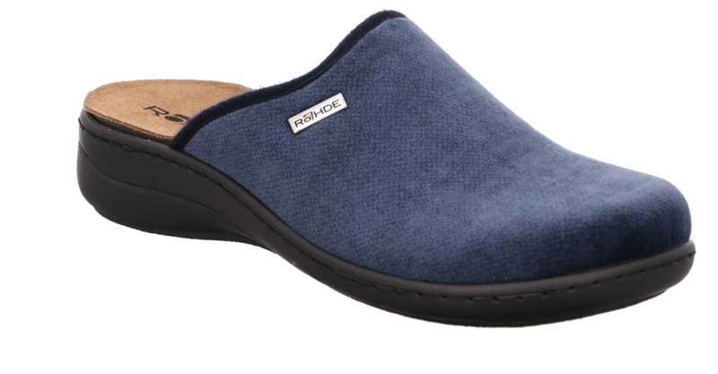 Rohde 6853-55 Jeans Blue slippers mules