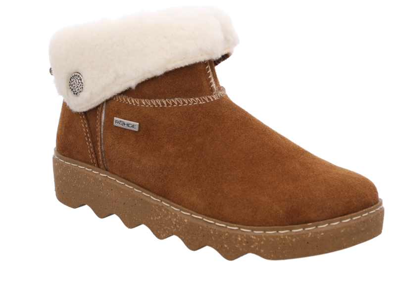 Rohde 6128-76  Cuoio Tan washable velour leather ankle boots