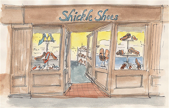 Shickle Shoes shop in Burham-On-Sea, Somerset.